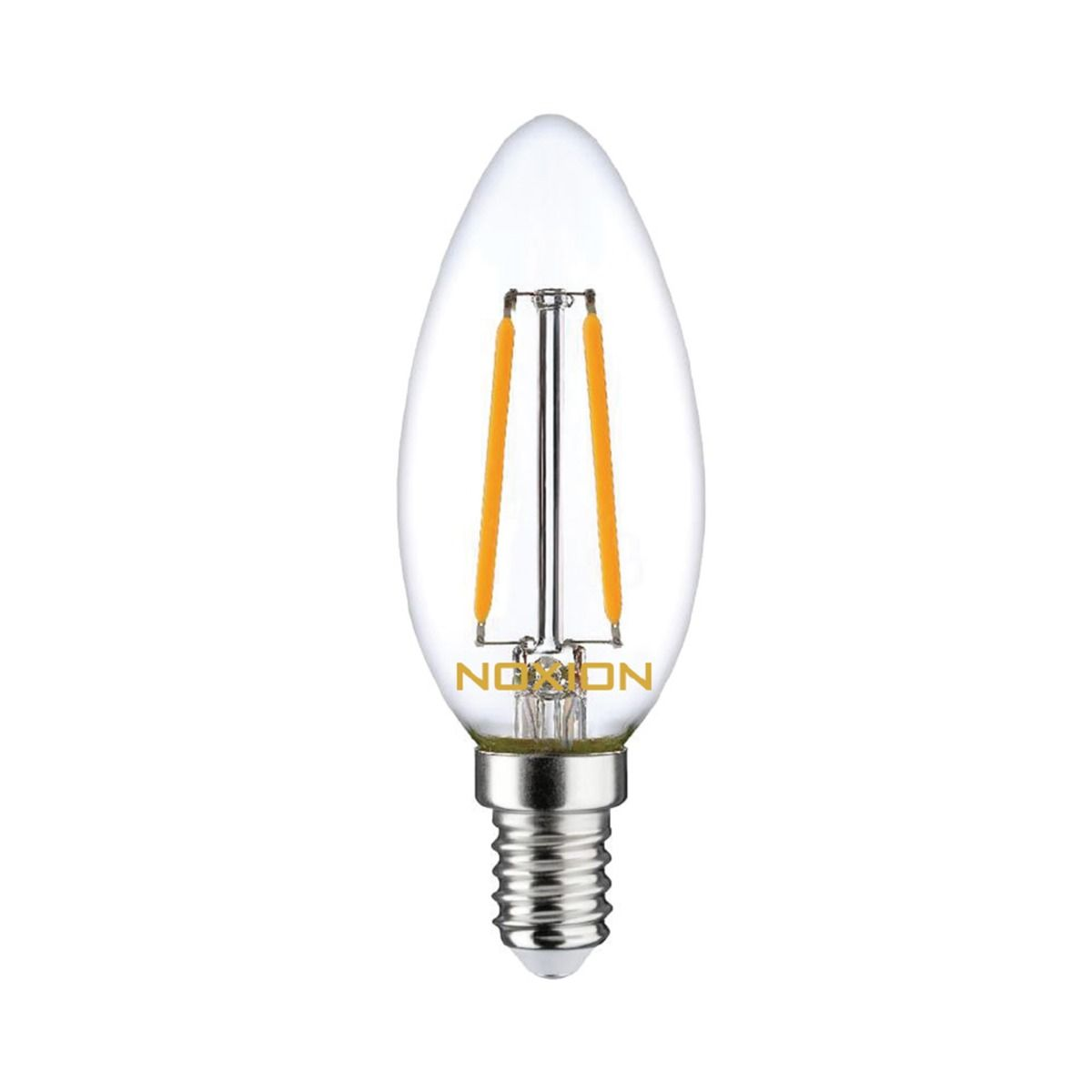 Noxion Lucent Filament LED Bougie B35 E14 2.5W 250lm 827 | Dimmable - Blanc Très Chaud - Équivalent 25W