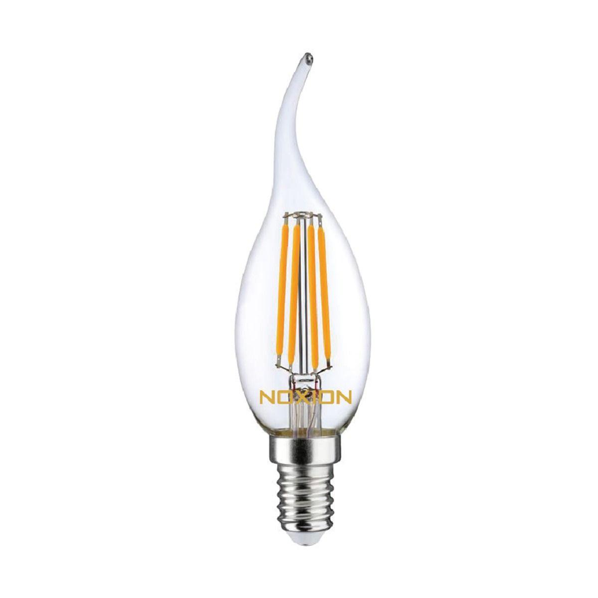 Noxion Lucent Filament LED Candle 4.5W 827 BA35 E14 Claire   Dimmable - Blanc Très Chaud - Substitut 40W