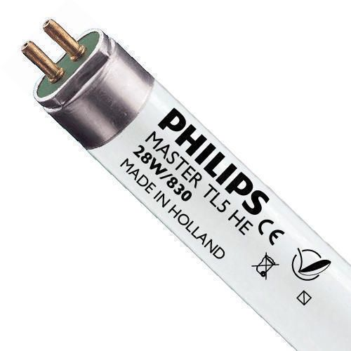 Philips TL5 HE 28W 830 (MASTER) | 115cm - Blanc Chaud