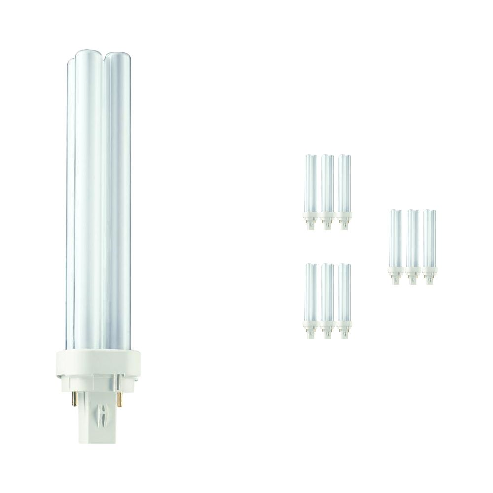 Lot x10 ampoules Philips PL-C 26W 830 2P (MASTER) | Blanc chaud | 2 broches
