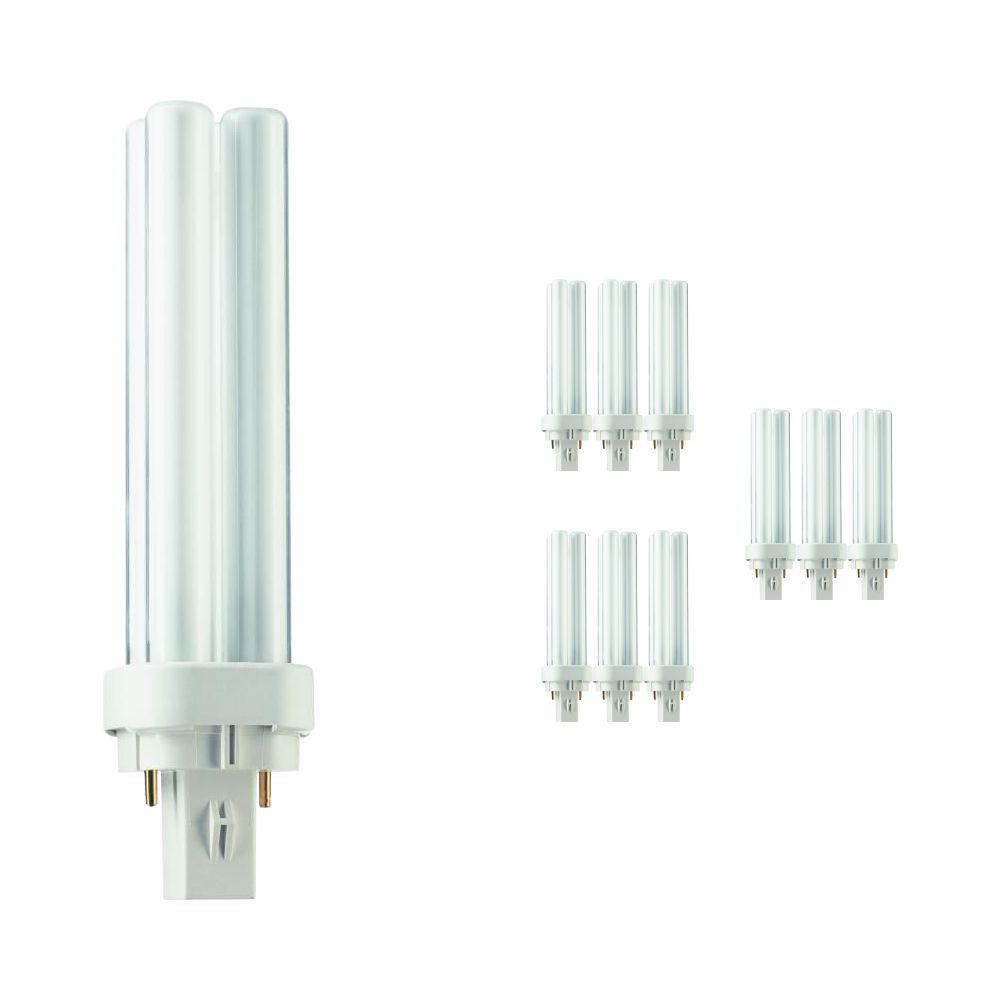 Lot 10x Philips PL-C 13W 830 2P (MASTER) | Blanc Chaud - 2-Pins
