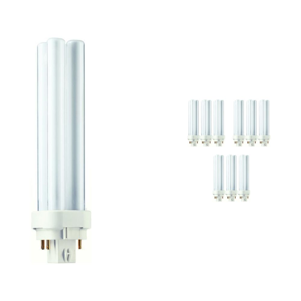 Lot 10x Philips PL-C 18W 840 4P (MASTER) | Blanc Froid - 4-Pins