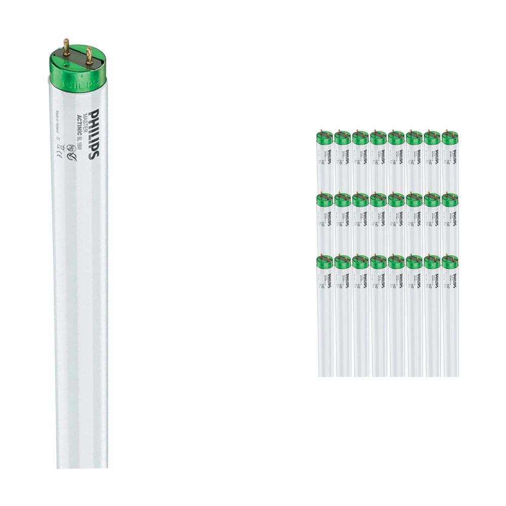 Lot 25x tubes Philips TL-D 15W 10 Actinic BL (MASTER)   45cm