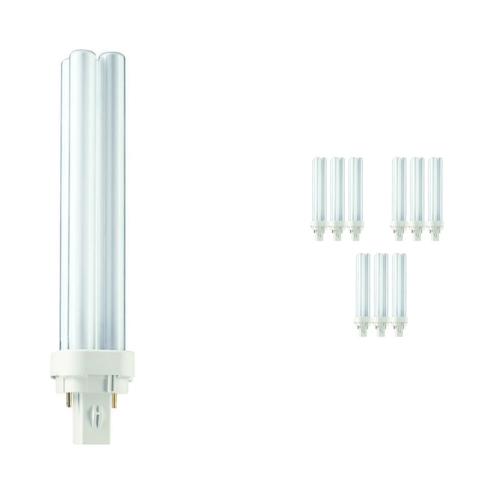 Lot 10x Philips PL-C 26W 840 2P (MASTER) | Blanc Froid - 2-Pins