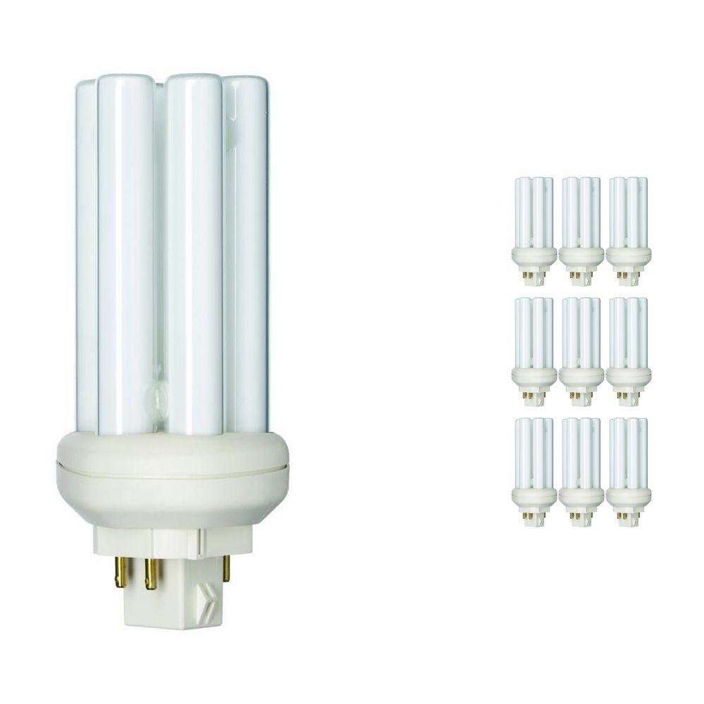 Lot 10x Philips PL-T 18W 830 4P (MASTER) | Blanc Chaud - 4-Pins