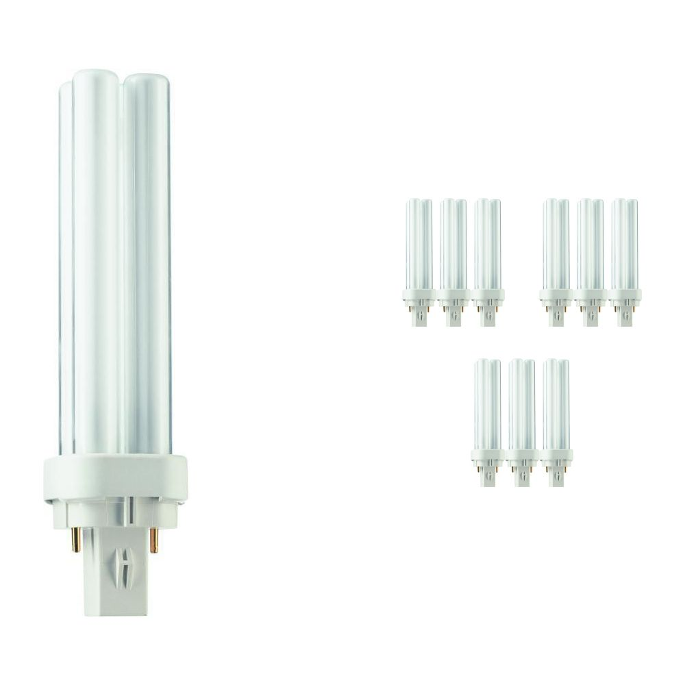 Lot 10x Philips PL-C 13W 840 2P (MASTER) | Blanc Froid - 2-Pins