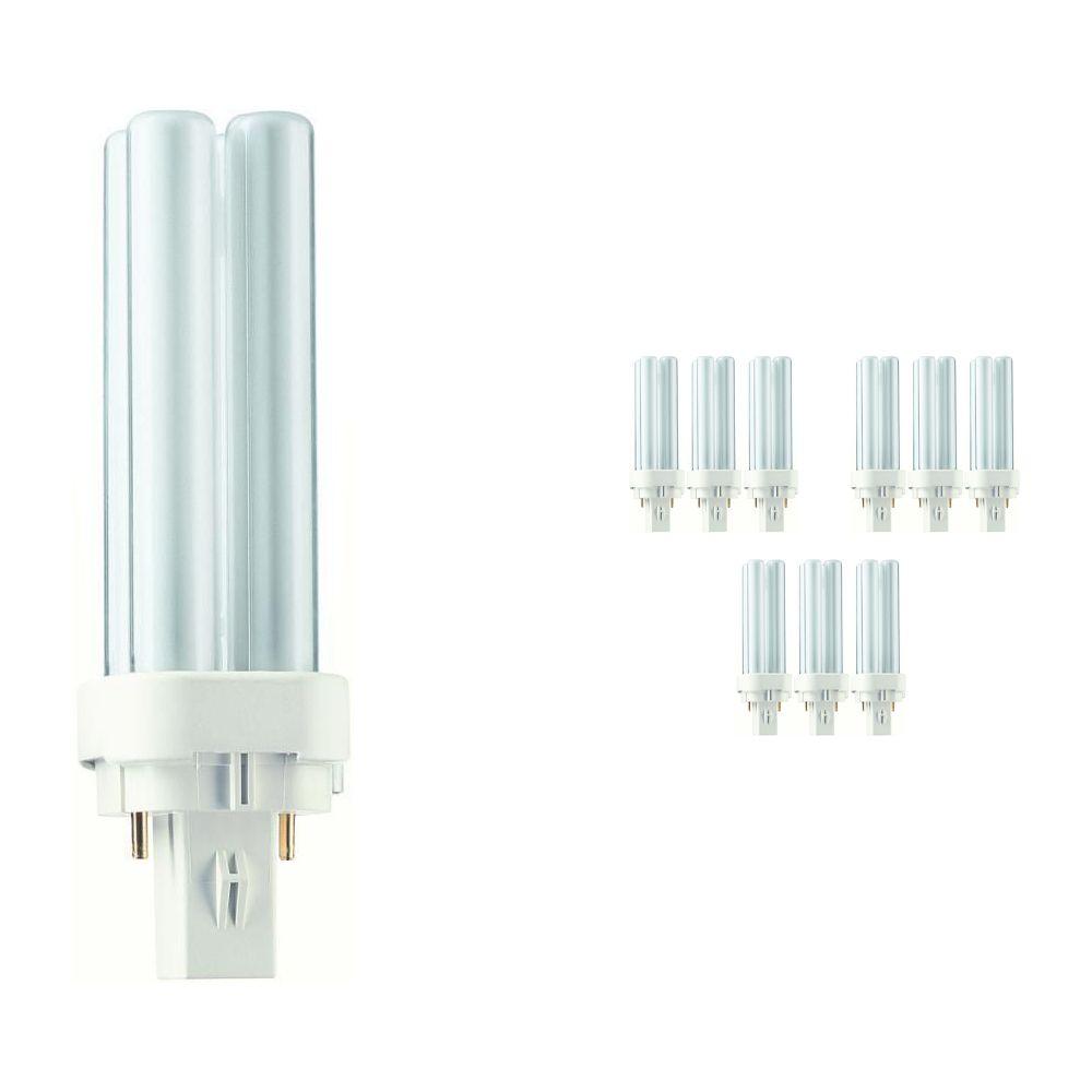 Lot 10x Philips PL-C 10W 830 2P (MASTER) | Blanc Chaud - 2-Pins