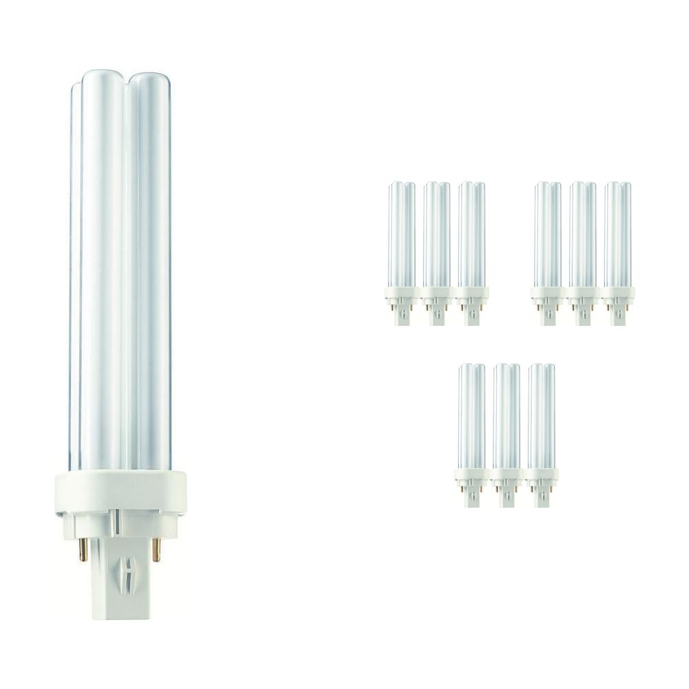 Lot 10x Philips PL-C 18W 840 2P (MASTER) | Blanc Froid - 2-Pins
