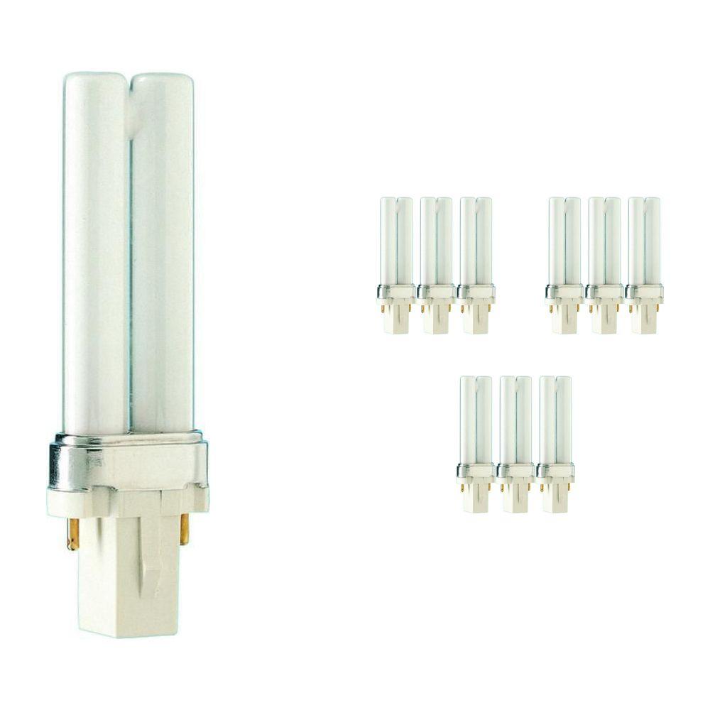 Lot 10x Philips PL-S 5W 827 2P (MASTER)   Blanc Très Chaud - 2-Pins