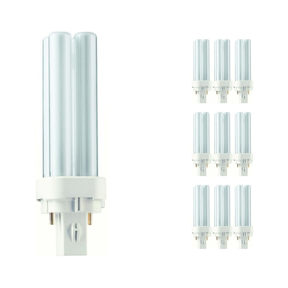 Lot 10x Philips PL-C 10W 840 2P (MASTER) | Blanc Froid - 2-Pins