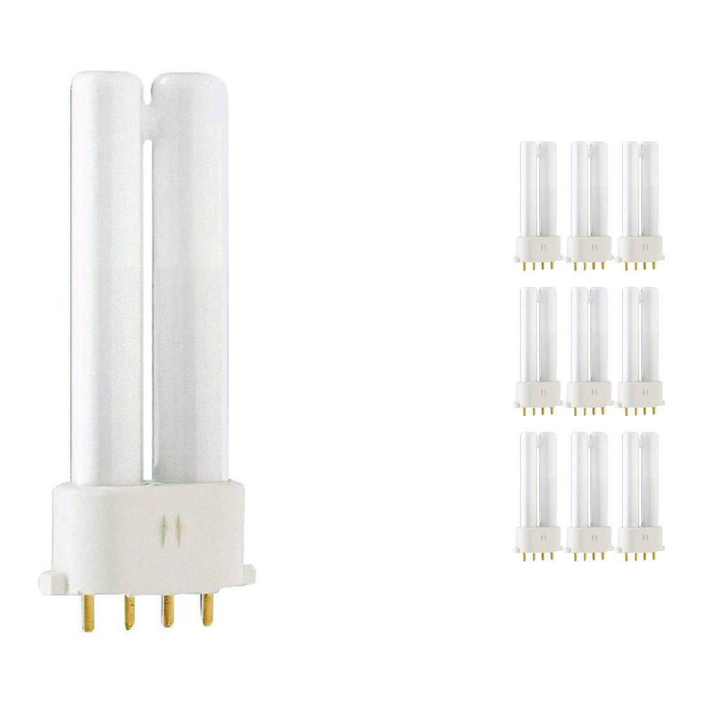 Lot 10x Philips PL-S 5W 840 4P (MASTER)   Blanc Froid - 4-Pins