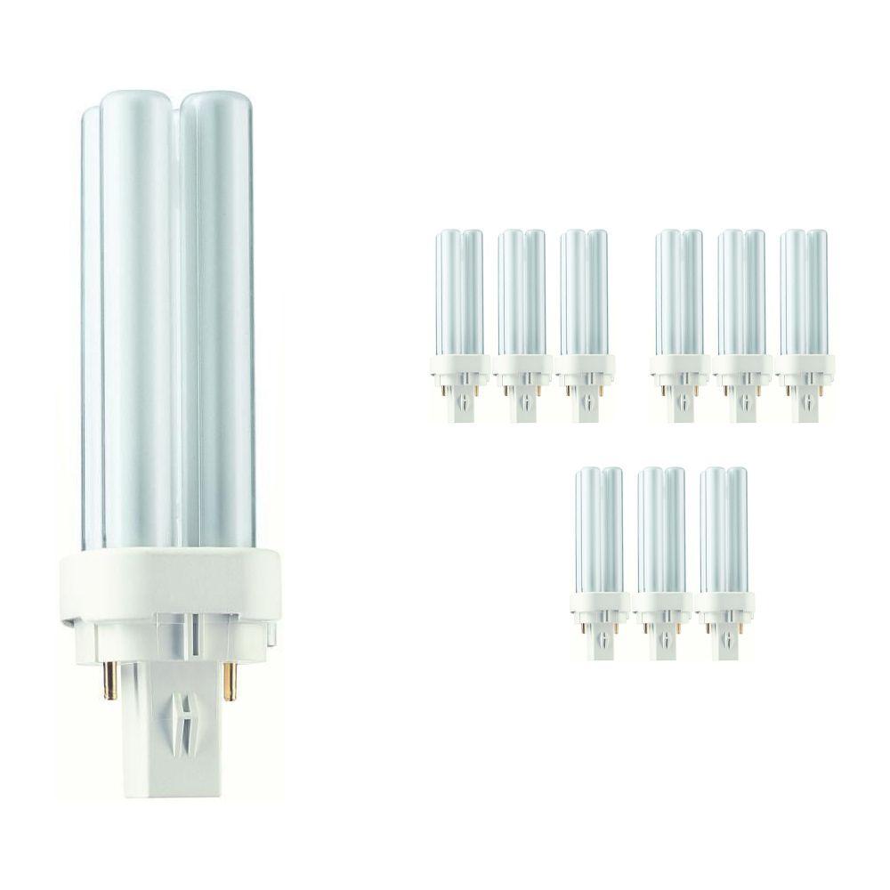 Lot 10x Philips PL-C 10W 827 2P (MASTER)   Blanc Très Chaud - 2-Pins