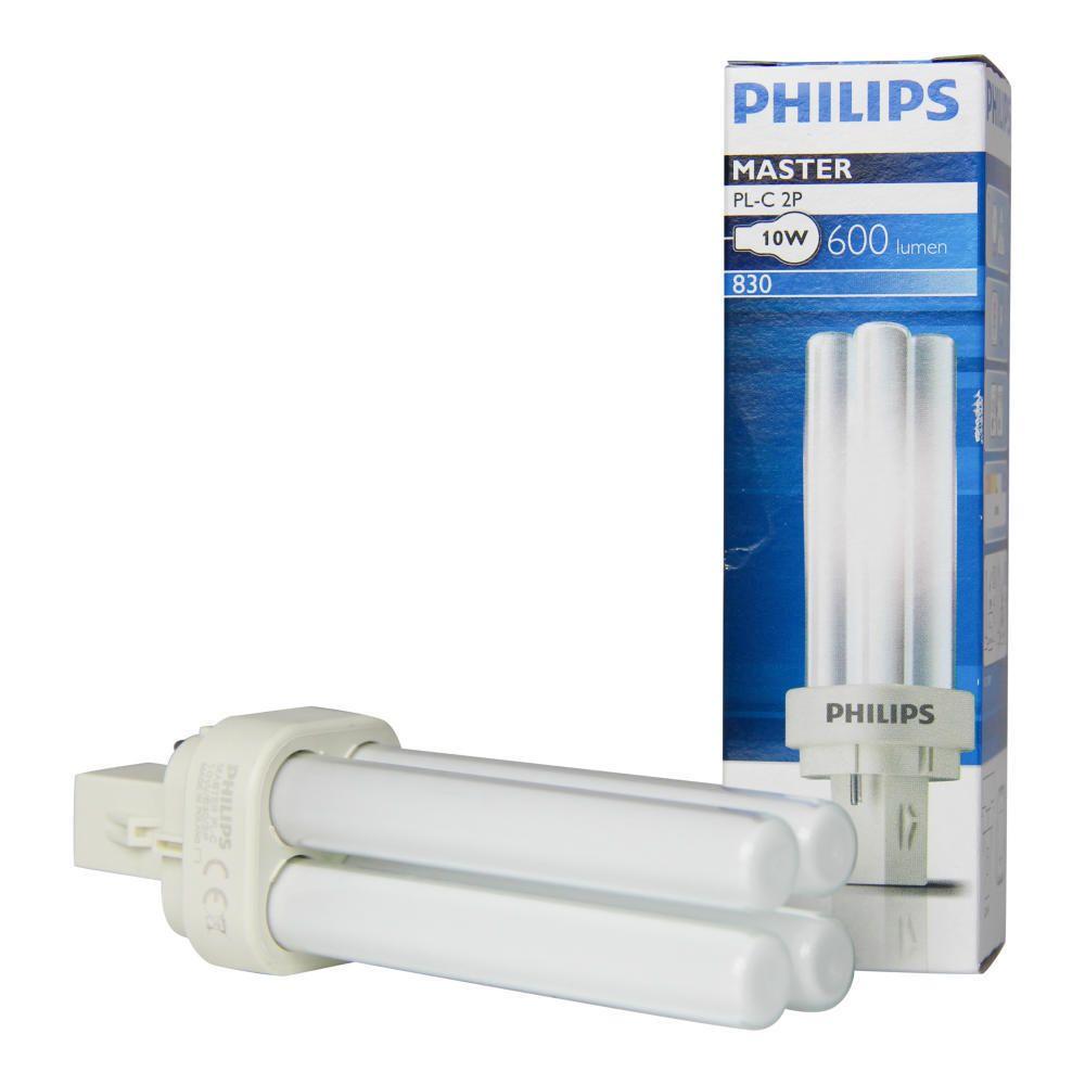 Philips PL-C 10W 830 2P (MASTER) | Blanc Chaud - 2-Pins