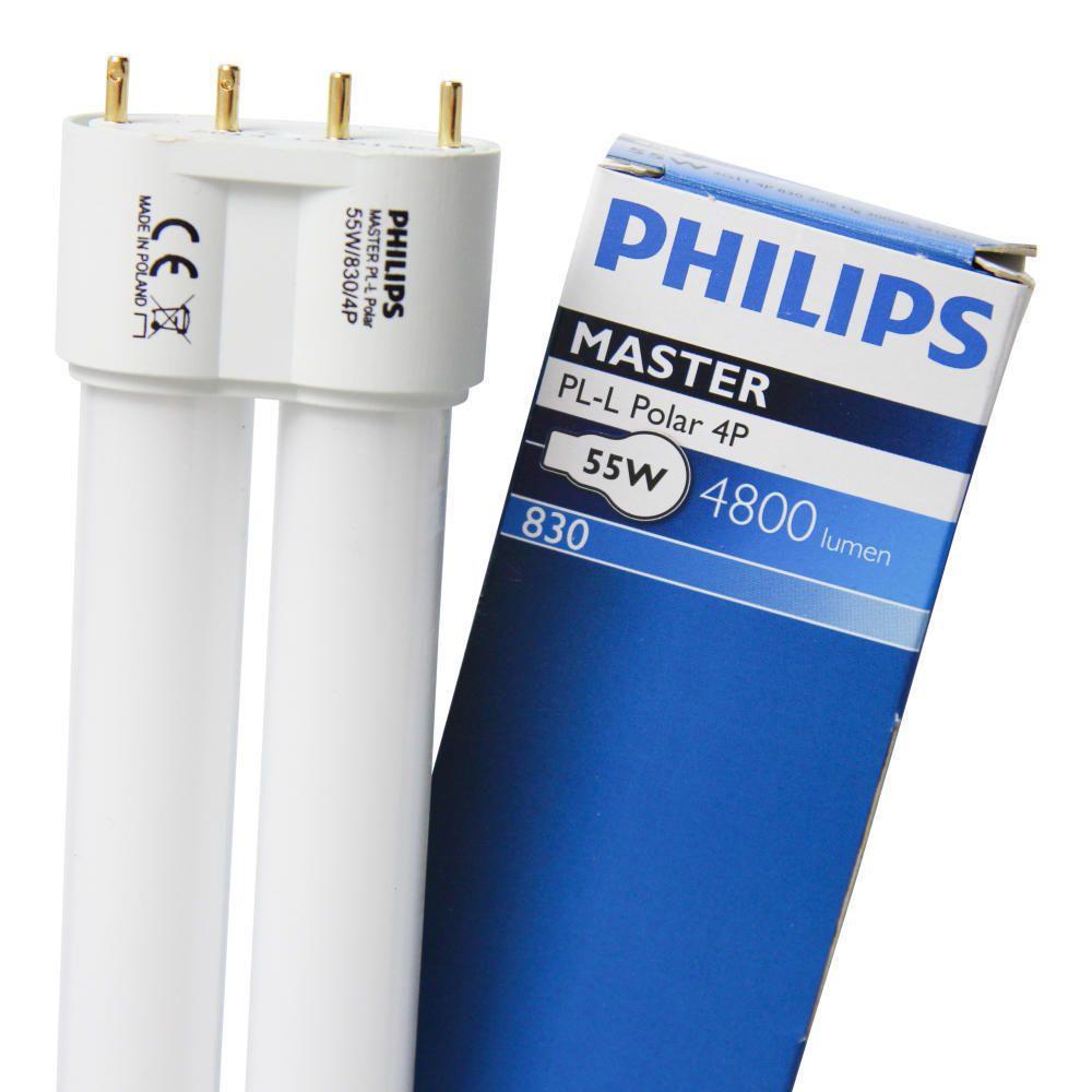 Philips PL-L 55W 830 4P (MASTER) | Blanc Chaud - 4-Pins