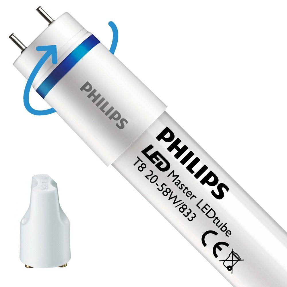 Philips LEDtube EM SO 20W 833 150cm (MASTER) | Food - Starter LED incl. - Substitut 58W - Rotatif