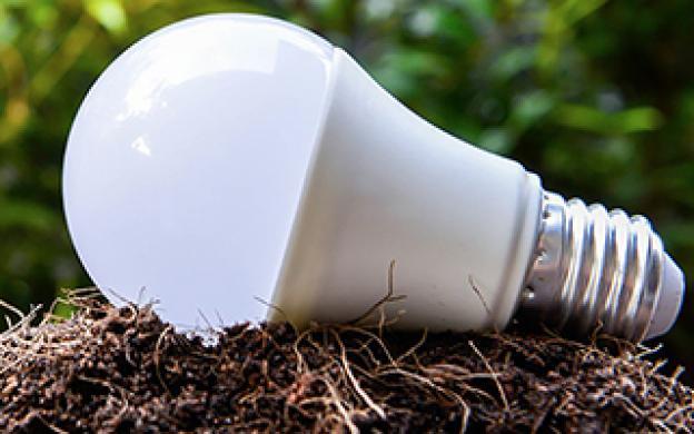 Le recyclage d'une ampoule LED