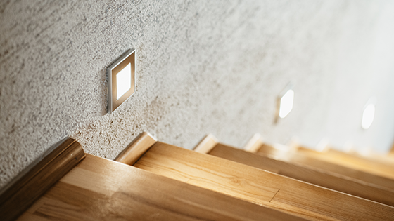 Eclairage escalier options