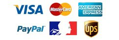 Carte Bleue, Paypal, VISA, Mastercard, American Express